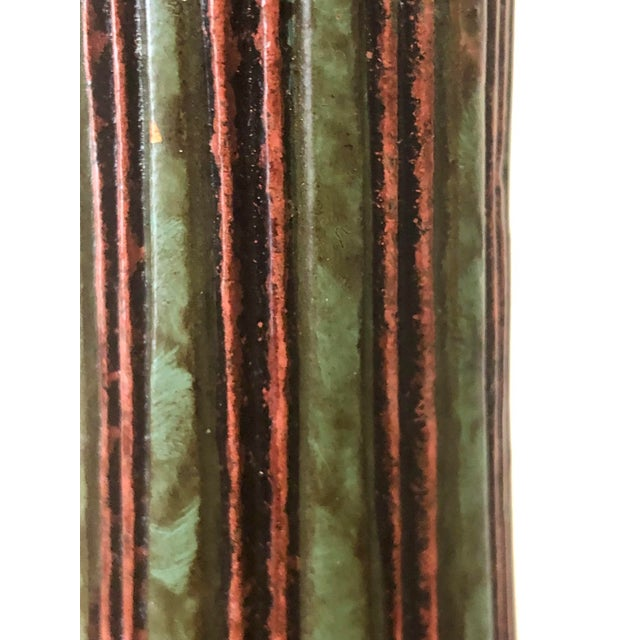 Red Bradburn Home Paisley Candleholders - a Pair For Sale - Image 8 of 13