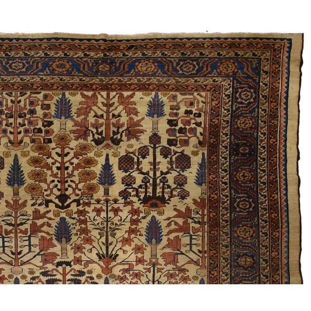Traditional Antique Persian Bakshaish Rug For Sale - Image 3 of 3