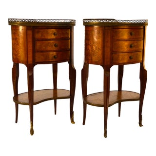 Louis XV Style Marble Topped Tables - a Pair For Sale