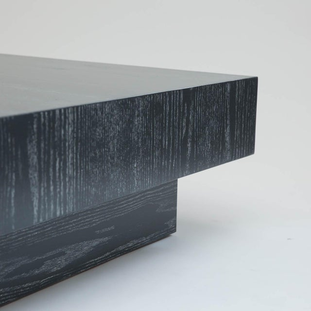 Modern Cerused Square Coffee Table - Image 6 of 9