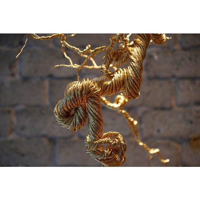 Untitled Twisted Brass Lit Sculpture - Image 7 of 7