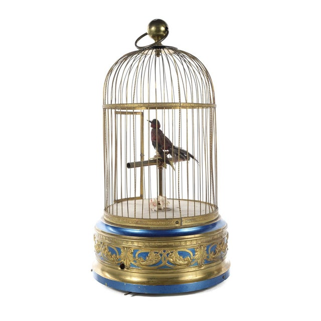 Mid 19th Century German Mechanical Birdcage Automaton Music Box For Sale - Image 5 of 9