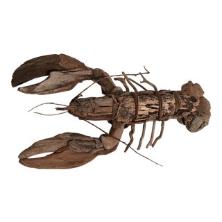 Driftwood Lobster Sculpture For Sale