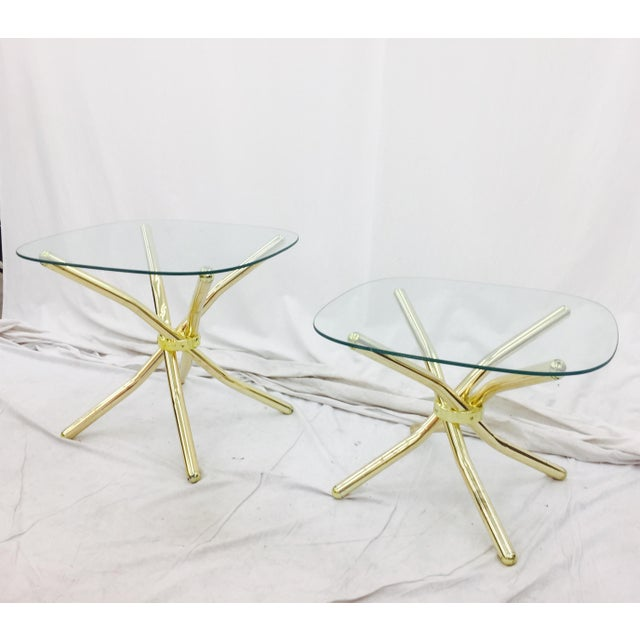 Gold Knot Side Tables - A Pair - Image 2 of 8
