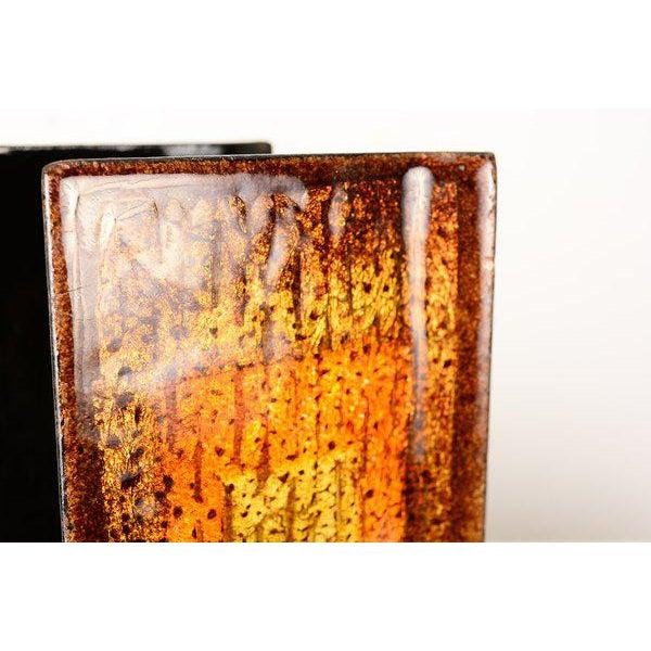 "Enamel on Copper ""Del Campo Studio"" Italian Door Handles - a Pair For Sale In San Diego - Image 6 of 10"