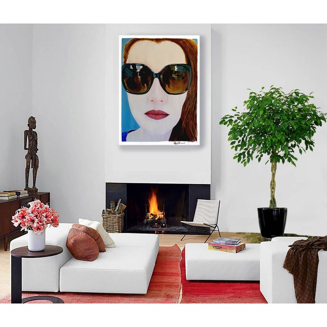 """Contemporary """"Portrait of Claire"""" Painting by Geoff Greene For Sale - Image 3 of 11"""