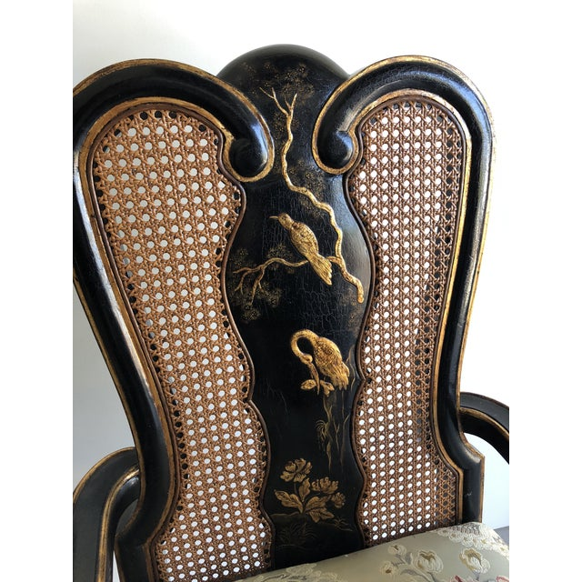 Vintage Chinoiserie Dining Chairs - Set of 10 For Sale - Image 9 of 12