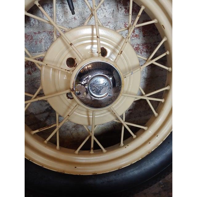 Ford Model a Original 1920/30s Wire Spoke Wheel W/Insa Tire For Sale - Image 4 of 10