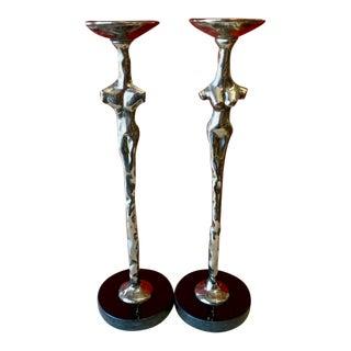 "Michael Aram ""Adam and Eve"" Candlesticks - a Pair For Sale"