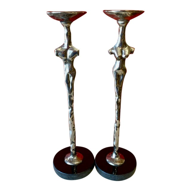 "Michael Aram ""Adam and Eve"" Candlesticks - a Pair For Sale"