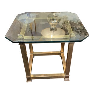 Brass Mastercraft Side Table For Sale
