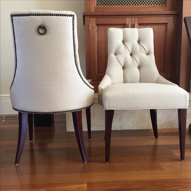 thomas pheasant baker dining chairs a pair chairish