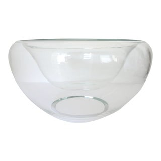 "Large Hand Blown ""Double"" Glass Bowl/Vase"