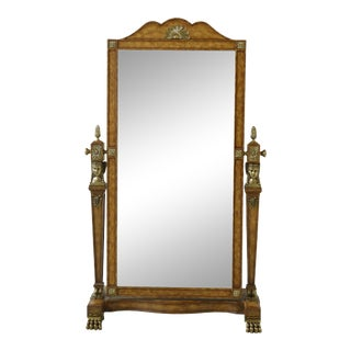 Maitland Smith French Empire Cheval Dressing Mirror For Sale