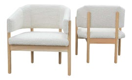 Image of Oak Lounge Chairs