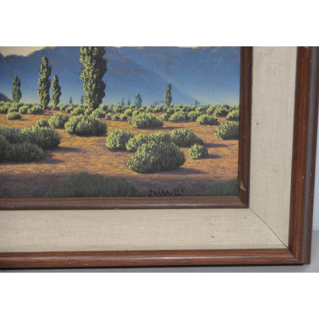 Canvas Michael Sarraille Rocky Mountain Landscape Oil Painting For Sale - Image 7 of 9