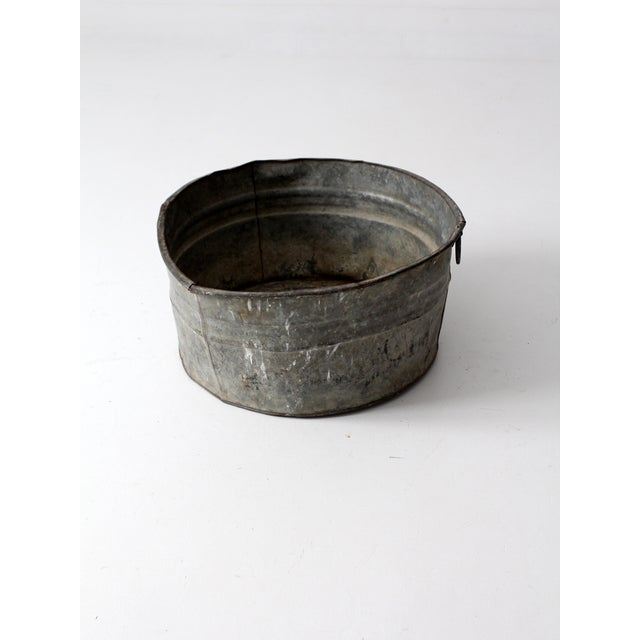 Vintage Galvanized Tub Basin - Image 8 of 8