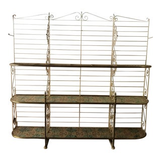 1900s French Baker's Rack With Tiles For Sale