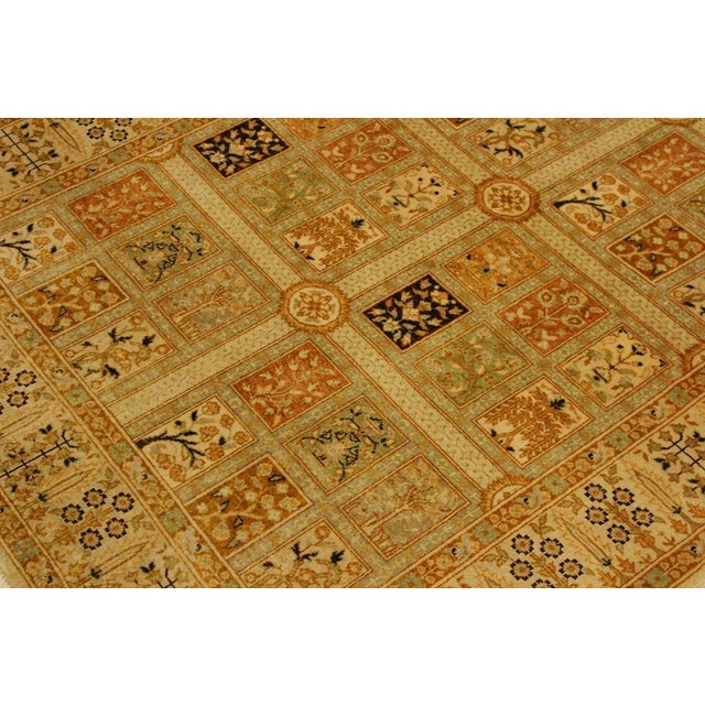 Textile Semi Antique Istanbul Cammy Tan/Gold Turkish Hand-Knotted Rug -4'2 X 6'0 For Sale - Image 7 of 8
