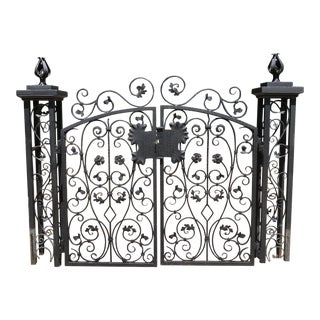 Vintage French Style Pedestrian Garden Gates - 3 Pieces For Sale