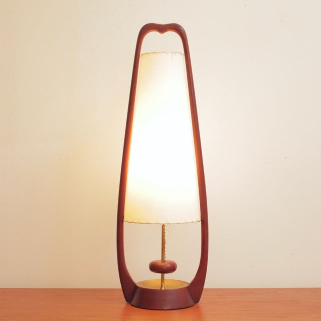 Mid-Century Modern 1960s Sculptural Lamps by John Keal for Modeline - a Pair For Sale - Image 3 of 13