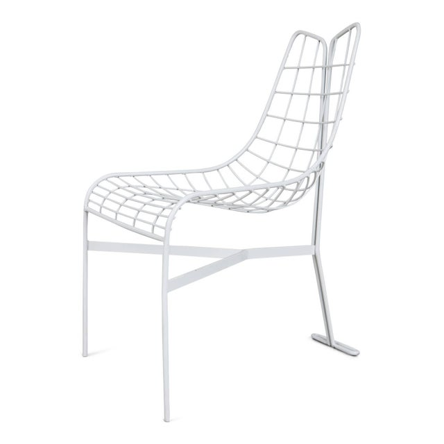 """Mid-Century Modern 1985 Vladimir Kagan """"Capricorn"""" Outdoor Dining Chairs and Table, Restored For Sale - Image 3 of 9"""