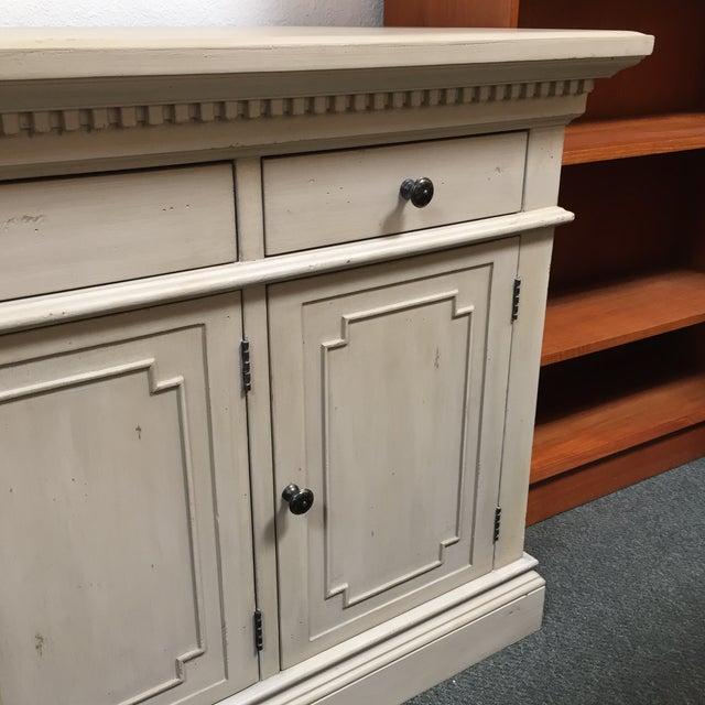 Restoration Hardware Antique White Finished St. James Credenza For Sale - Image 10 of 11