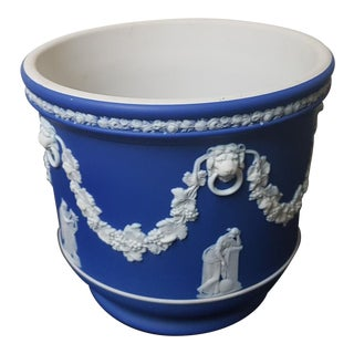 Wedgwood Blue Jasper Pot For Sale