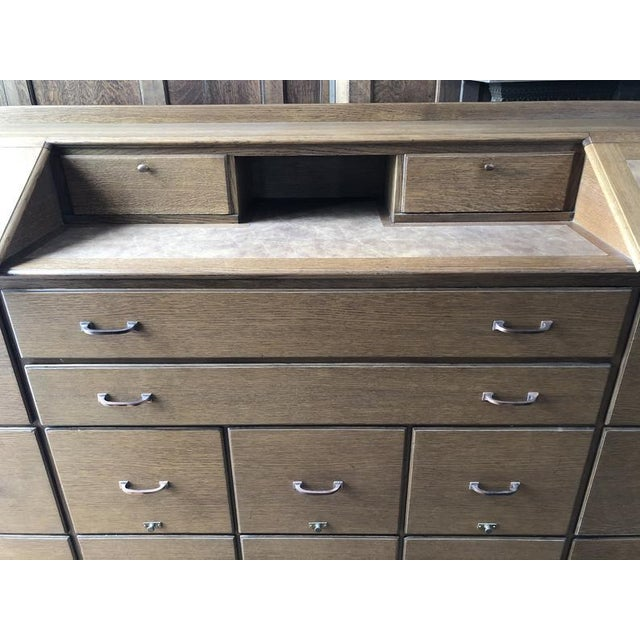 1930s Antique Bankers File Cabinet Drawer Unit For Sale - Image 5 of 11