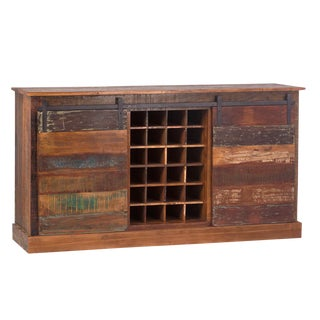 Farmhouse Sideboard / Bar Cabinet For Sale