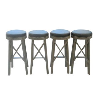 "Custom to Order ""The Color Hues"" Collection Leather Stools"
