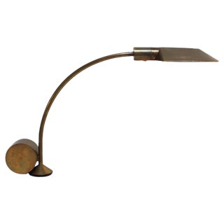 1960s Cedric Hartman Counterweighted Brass Table Lamp For Sale