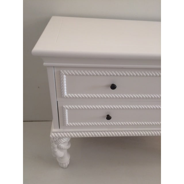 1960s Hollywood Regency White Commode With Tassel Legs For Sale - Image 10 of 13