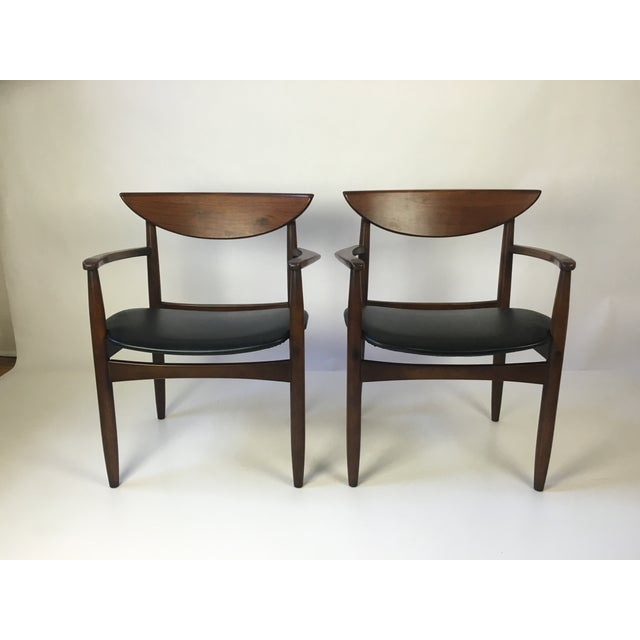 Danish Modern Lane Perception Modernist Armchairs - A Pair For Sale - Image 3 of 9