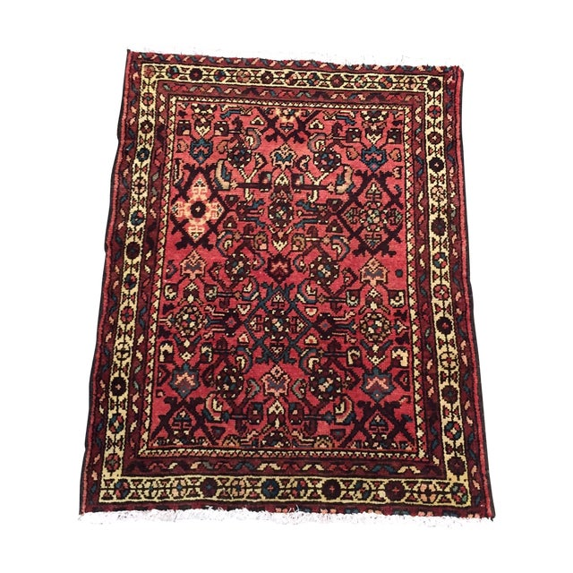 "Hamadan Hand Made Persian Rug - 2'5"" x 3'2"" - Image 1 of 9"