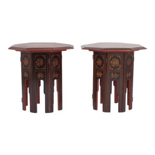 Rare Burmese End Tables - A Pair For Sale