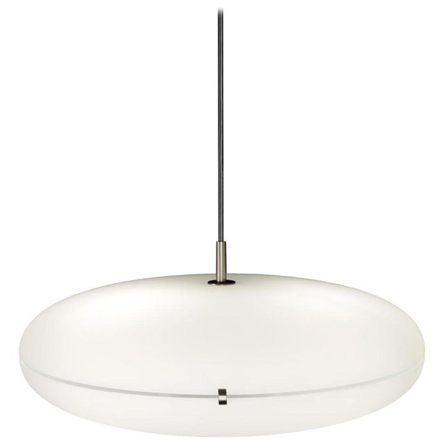 Not Yet Made - Made To Order Gio Ponti Luna Suspension Lamp in Nickel For Sale - Image 5 of 5