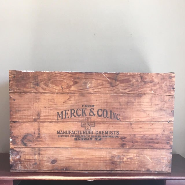 Antique Wooden Merck & Co. Crate - Image 2 of 8