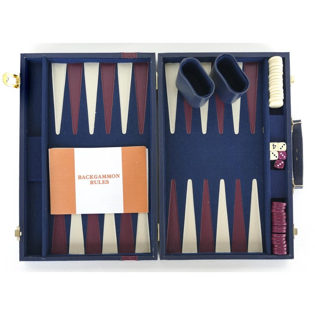 Vintage Backgammon Set W/ Leatherette Case For Sale In Miami - Image 6 of 6