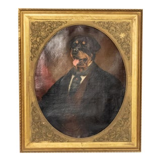 Character Portrait of a Dog Oil Painting For Sale