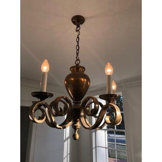 Antique 5 Arms Brass Chandelier Preview
