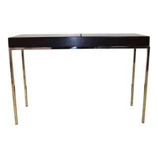 Swaim Modern Wood Top Side Table For Sale