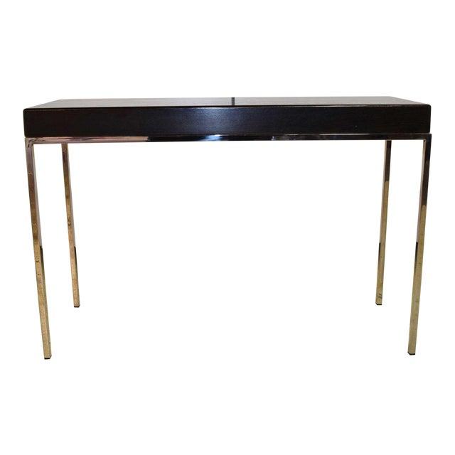 Swaim Modern Wood Top Side Table For Sale