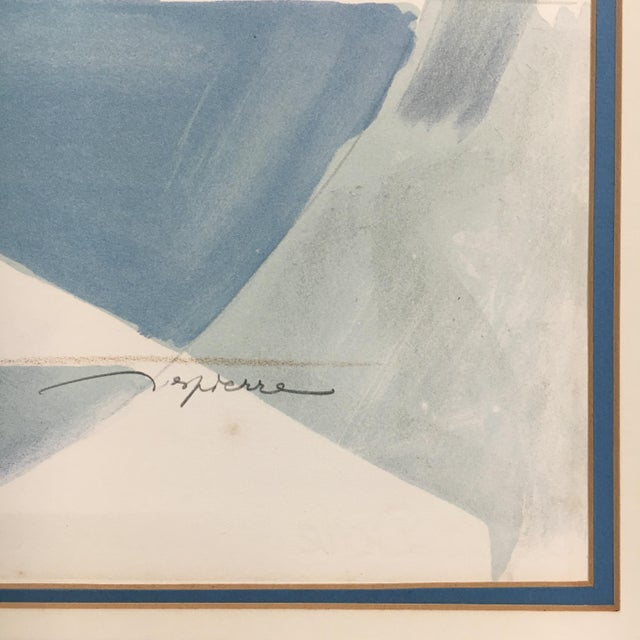 """1960s Vintage """"The Race"""" French Cubist Lithograph by Jacques Ceria Despierre For Sale In Philadelphia - Image 6 of 8"""