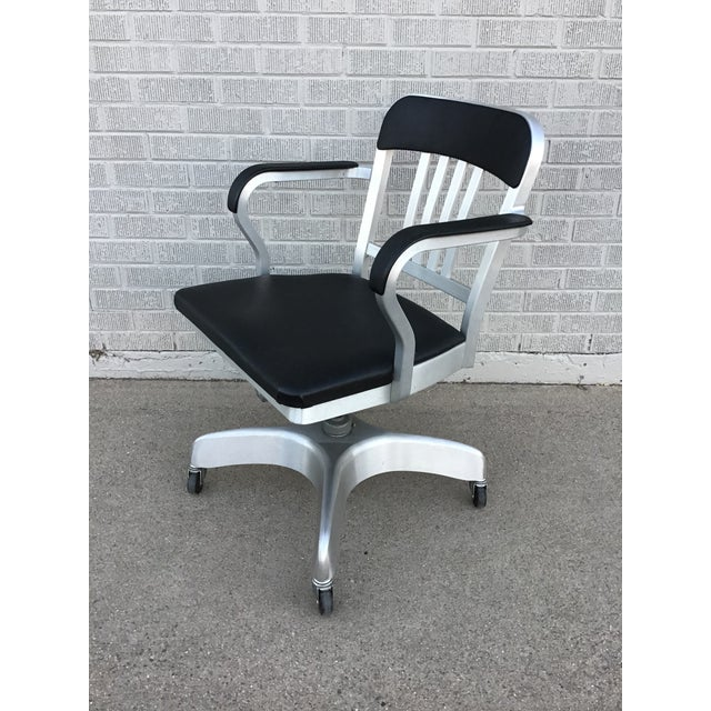 Late 20th Century Vintage Emeco Rolling Office Chair For Sale - Image 5 of 13