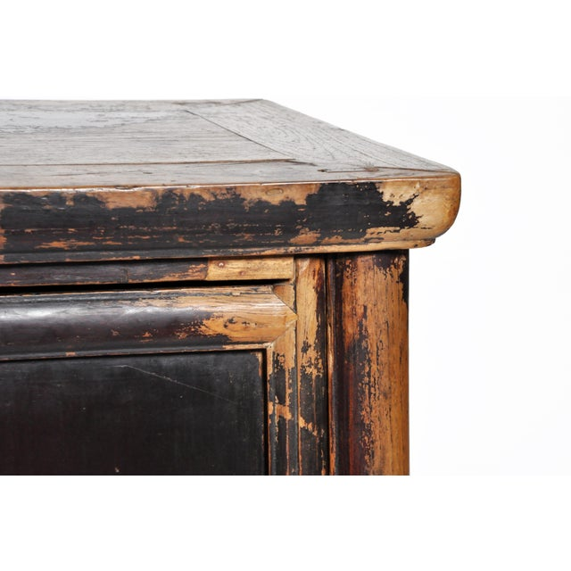 17th Century Qing Dynasty Round Post Chest With Two Drawers and Original Patina For Sale - Image 10 of 13