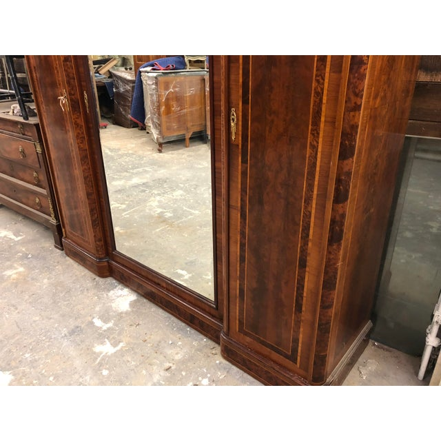 Late 19th Century 19th Century French Neoclassical Mirrored Armoire For Sale - Image 5 of 13