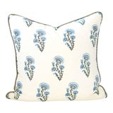 Image of Chardon Block Print Pillow For Sale