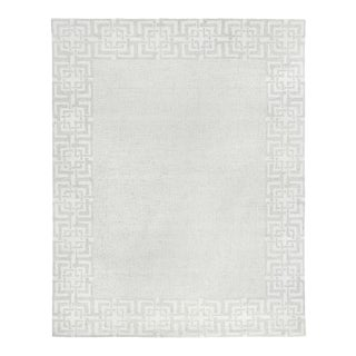 Exquisite Rugs, Melbourne, Hand Loom, Wool/Cotton, Silver (10'x14') Area Rug For Sale