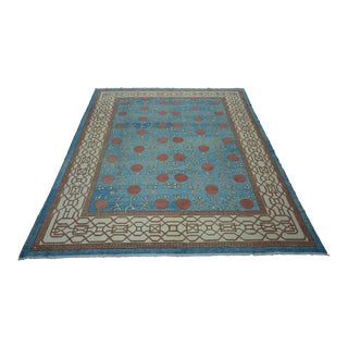Turkish Anatolian Modern & Decorative Oushak Rug - 9'1″x 11'7″